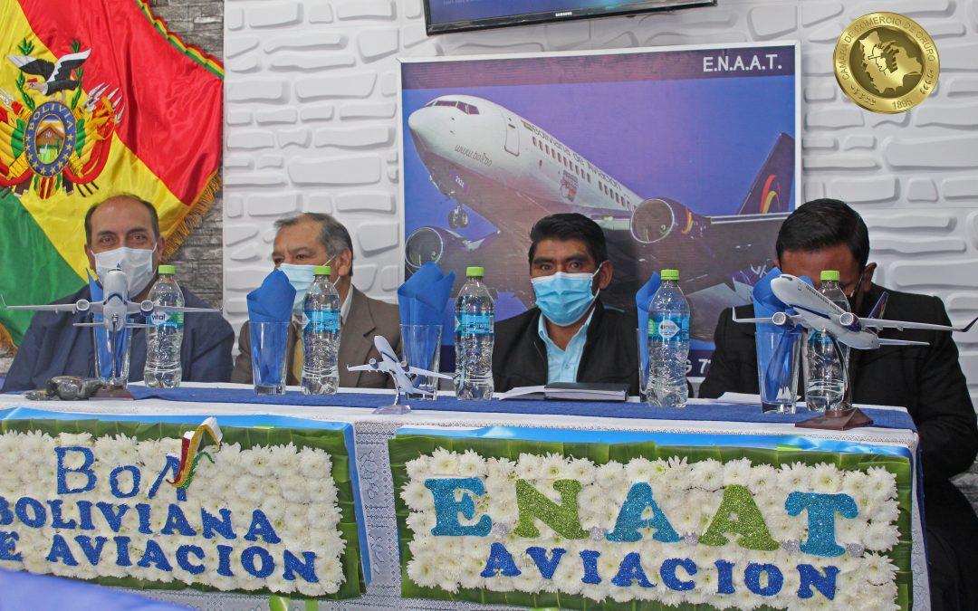 Inauguración de la Empresa  ENNAT Aviación