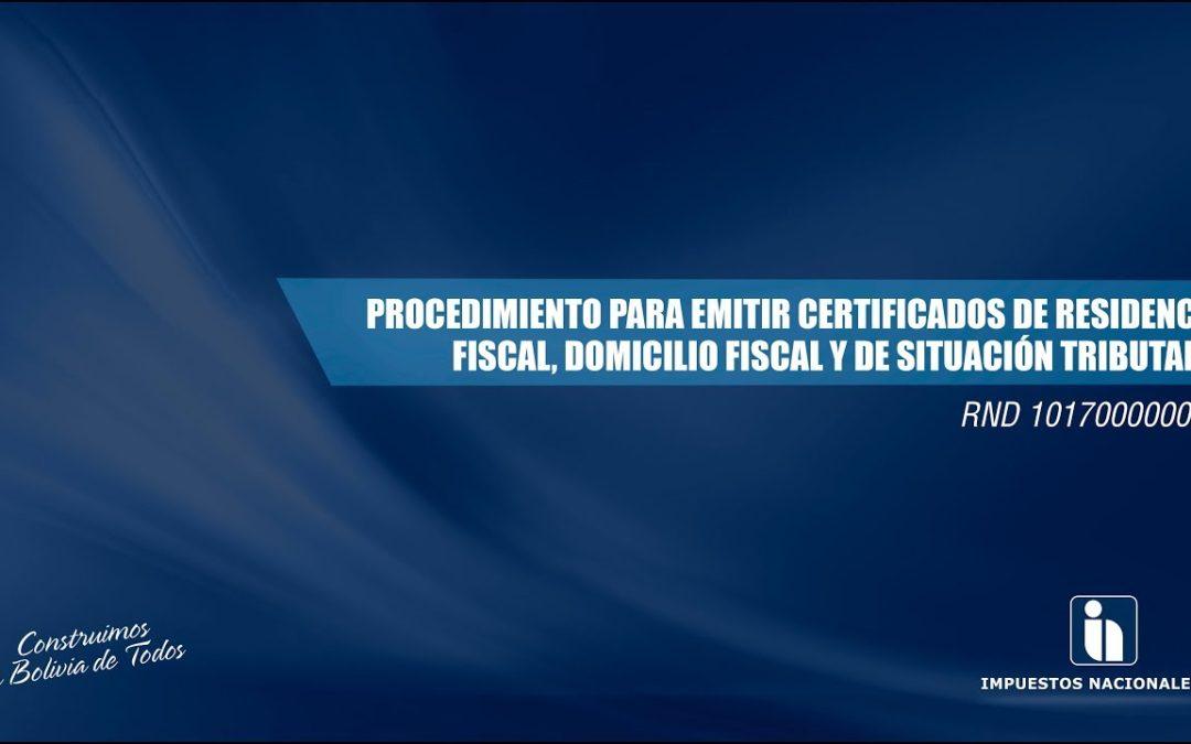 Guía para obtener la certificación de situación tributaria
